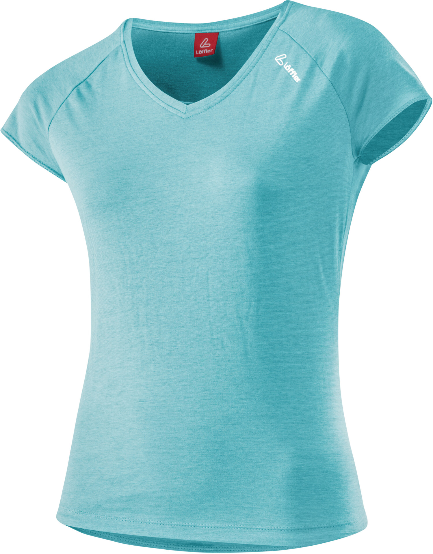 Löffler Transtex Single Fietsshirt Korte Mouwen Dames, angel blue